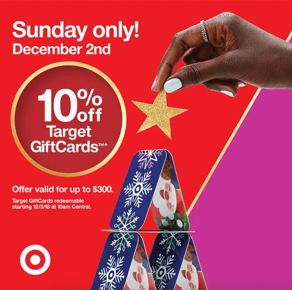target gift card sale discount