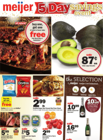 meijer ad and coupon deals 5 day
