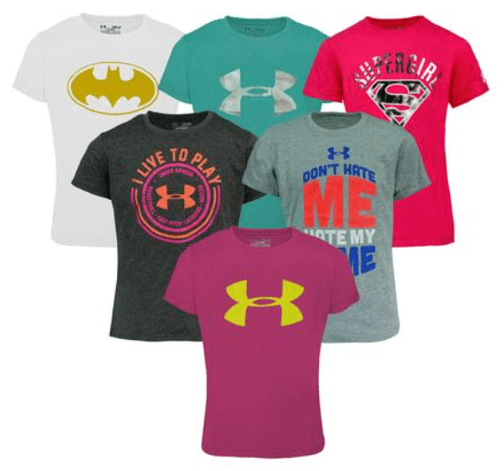 girls under armour shirts