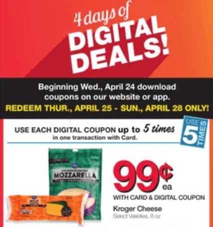 kroger weekend deals digital coupons
