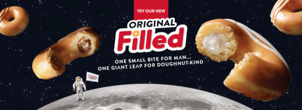 krispy kreme free original filled doughnut
