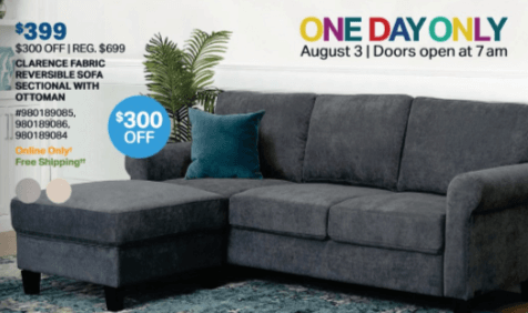 sam's club one day couch