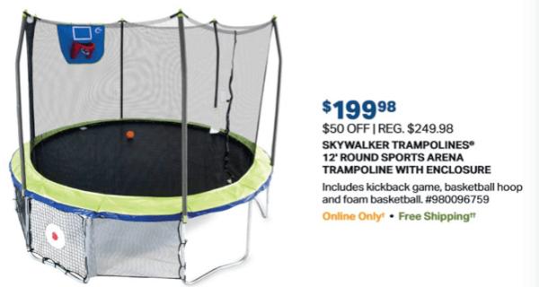 sam's club one day trampoline