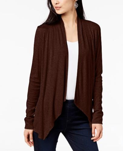 INC draped cardigan sweater macy's
