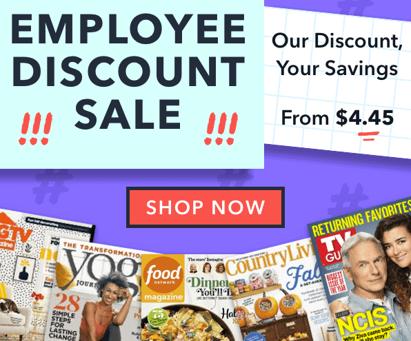 magazine sale employee discount