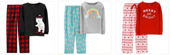 carter's boys girls pajamas