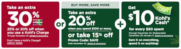 kohls december 2019 coupon codes