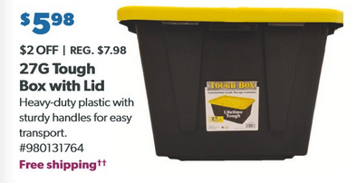 tough box storage tote