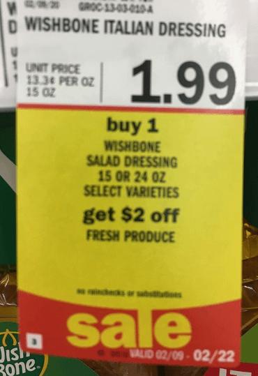 meijer wish bone dressing produce