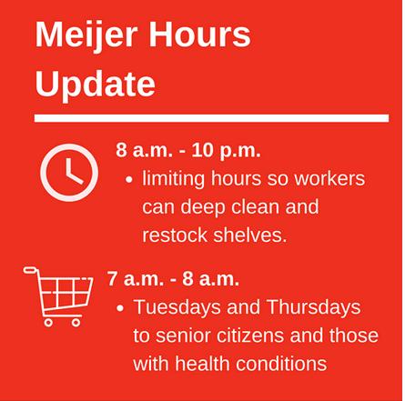 Meijer updates store hours coronavirus
