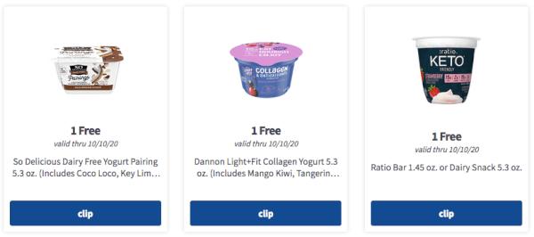 Meijer mPerks 3 yogurt freebies