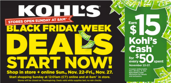 kohl's black friday deals 2020