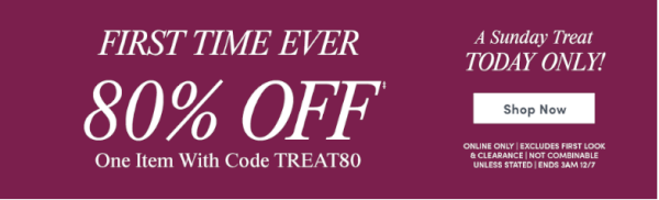 ann taylor factory coupon code