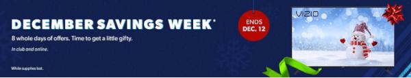 sam's club december savings week