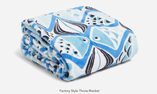 vera bradley factory throw blanket