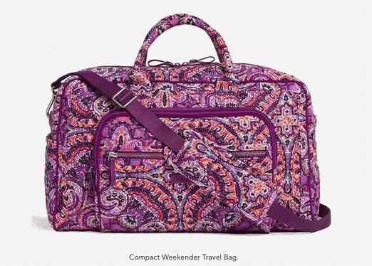 Vera Bradley Compact Weekender Travel Bag