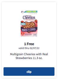 meijer mperks free cheerios