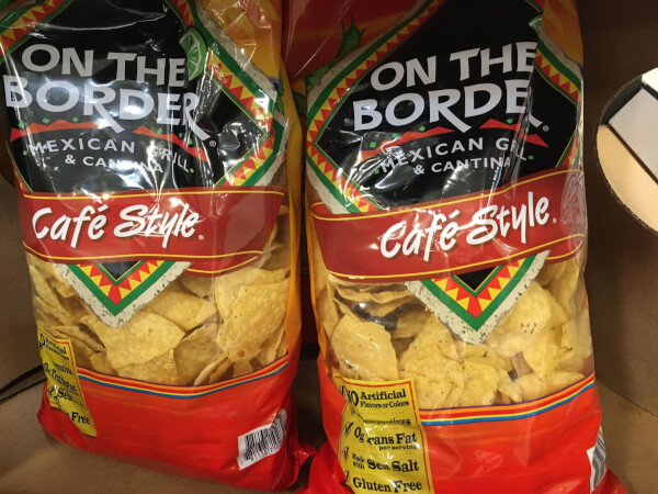 on the border tortilla chips 28 oz